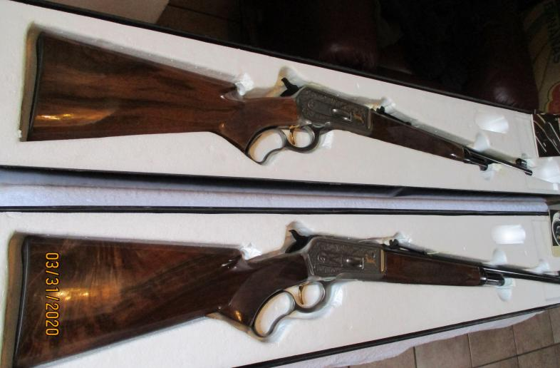 BROWNING MODEL 71 HIGH GRADE 348 LEVER ACTIONS - SET OF 2 NEW IN BOXES