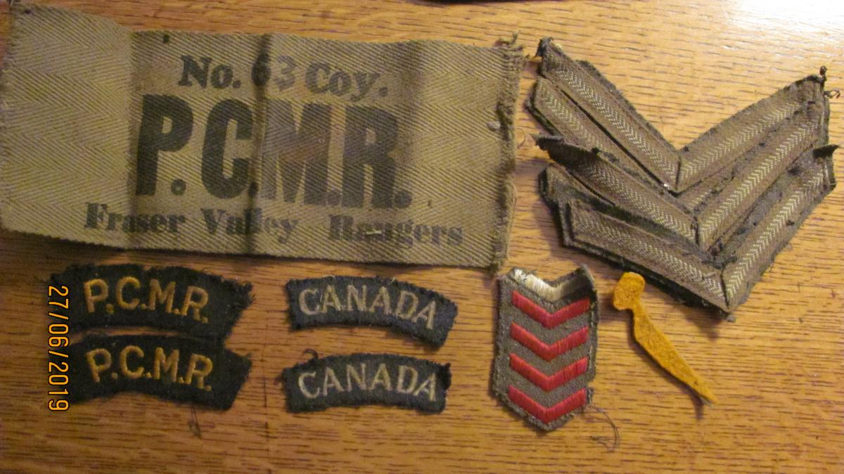 WANTED PCMR ITEMS ..Pacific Coast Militia Rangers  1942-1945